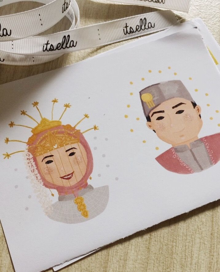 Betawi's wedding attire #wedding #illustration #betawi #jakarta #indonesia