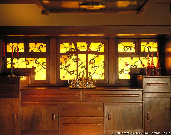 Interior, The Gamble House, Greene and Greene, Pasadena, CA #artsandcrafts, #architecture