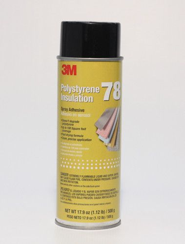3M™ Polystyrene Insulation 78 Spray Adhesive