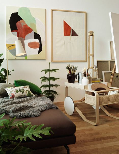 Studioilse designs home for fictitious couple using Vitra and Artek furniture