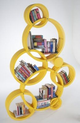 A very funky bookcase
