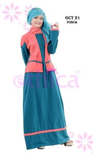 Baju Dress Gamis Ethica GCT 21 Toska