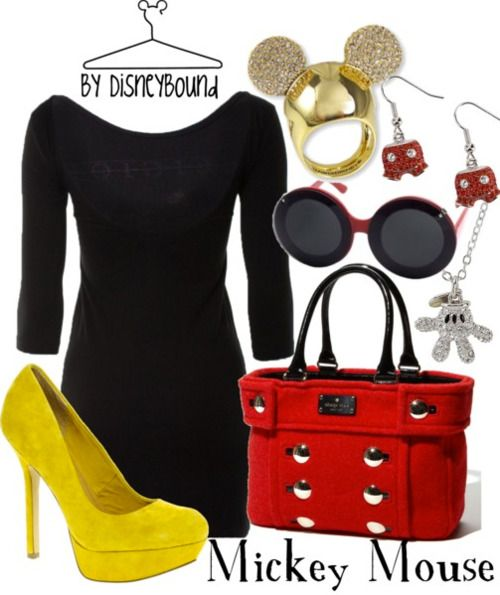 Mickey Mouse love this except the shoes I would break my fool neck much less how silly fat girls look in heels like that