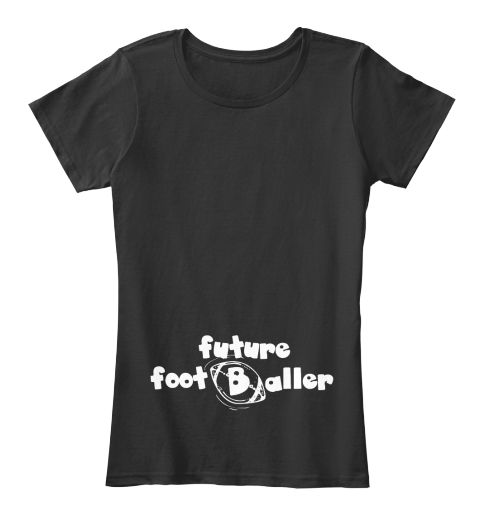 American Football Future Baby Tshirt Black T-Shirt pour Femme Front