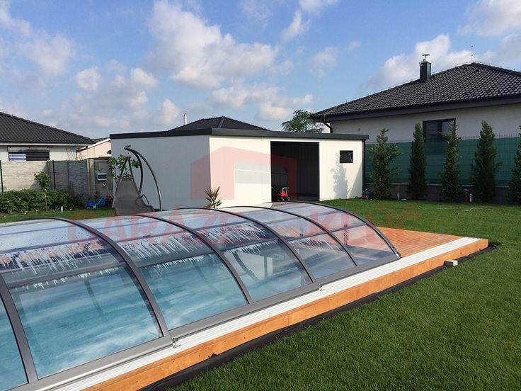 Dizajnová priechodná dvojgaráž na kľúč ako estetický doplnok záhrady. Páči sa Vám?