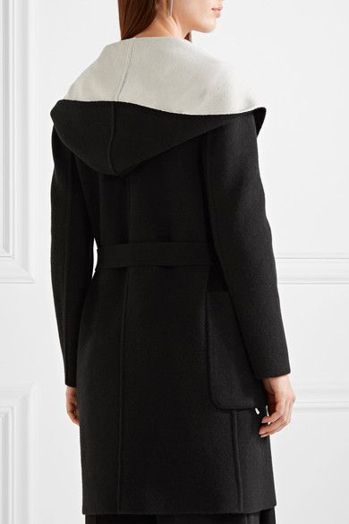 Max Mara - Reversible Hooded Wool Coat - Black -