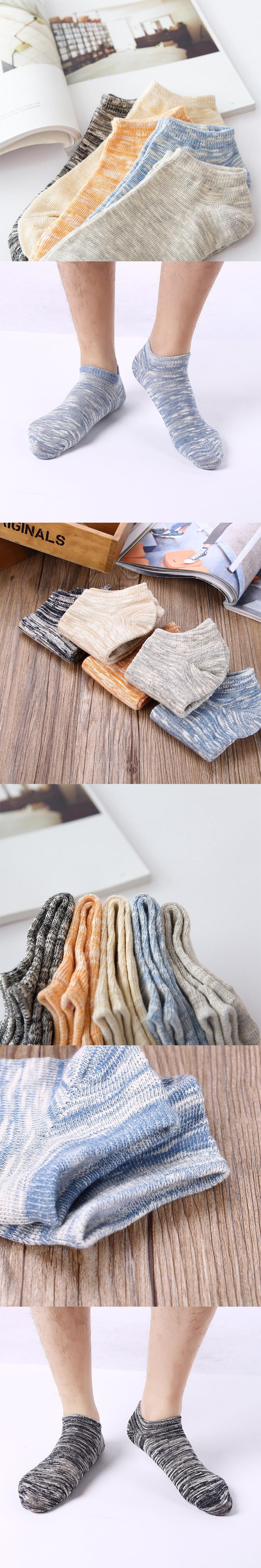 Men's Short Socks EUR 37-43 Fashion Invisible Comfortable Knit Cotton Breathable Casual Mixed Colors Male Socks