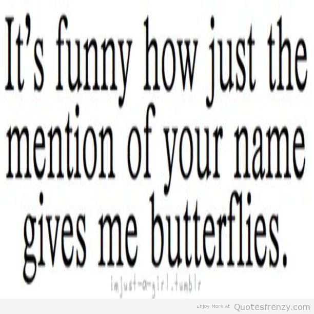This happens to me when ever i hear you name or voice <3