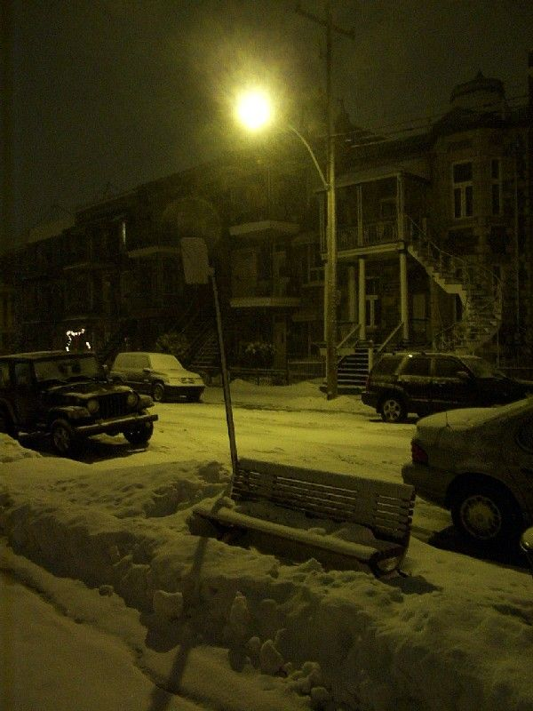 Snowy Christmas Evening - Montreal, Quebec