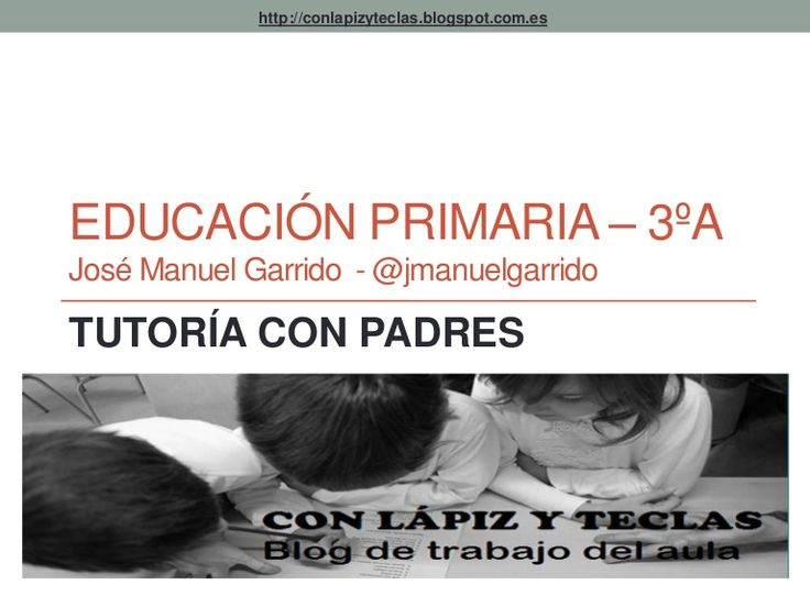 Presentación utilizada para la reunión inicial con los padres y madres de P3A del curso 2014-15