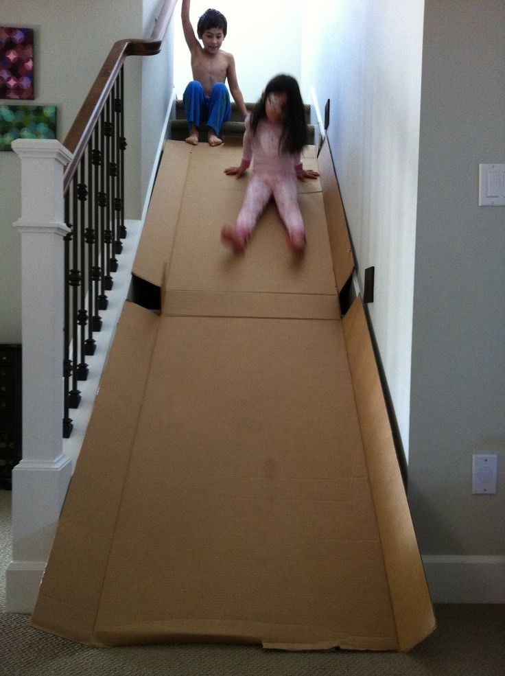 Cardboard Slide - FUN!! @Karen Jacot Jacot Moon I only know one place my kids could do this ;)