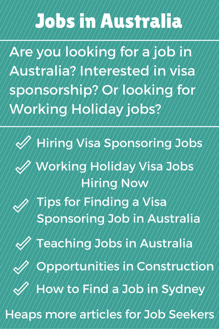Are you looking for a job in Australia? Heaps for articles of Job Seekers on Sydney Moving Guide plus current positions for Working Holiday Visa holders or those looking for Australian Visa Sponsorship.
