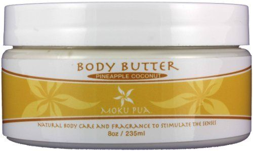 Moku Pua Pineapple Coconut Body Butter - 8oz by Moku Pua. $26.00. Made from the finest natural ingredients. Sulfate Free and Paraben Free. Sulfate Free and Paraben Free Moku PuaÕs all natural smooth and creamy Body Butter will hydrate dry skin. Made with natural exotic oils of Macadamia, Kukui Nut, Mango, and Shea Butter, this luxurious cream will secure moisture to keep your skin nourished and hydrated. The healing properties of Aloe help skin stay refreshed, wh...