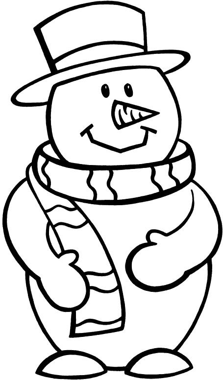 70 best coloring snowman images on pinterest snowman for Frosty the snowman coloring pages