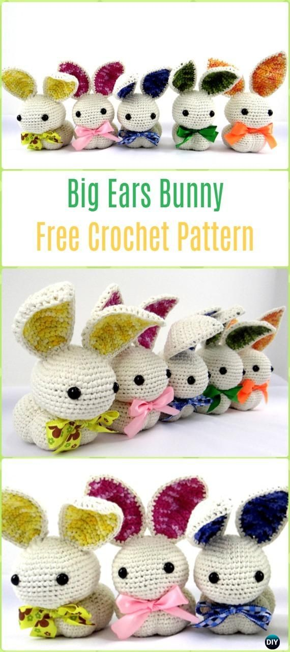 Crochet Amigurumi Big Ears Bunny Free Pattern - Crochet Amigurumi Bunny Free Patterns