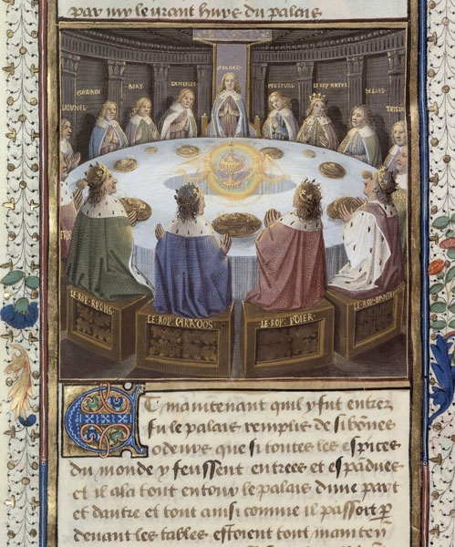 Bnf la l gende du roi arthur la table ronde roi - La table ronde du roi arthur ...