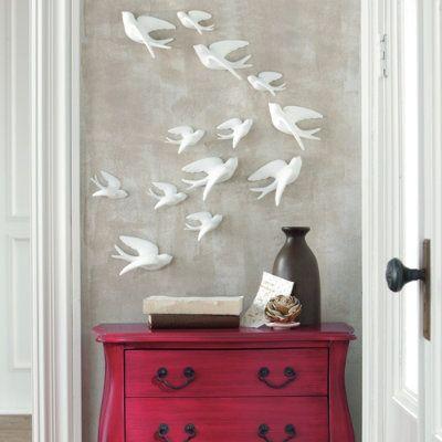 set of five birds of flight wall art - Bird Wall Decor