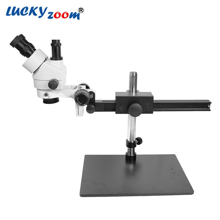 Find More Microscopes Information about Luckyzoom Brand Professional 7X 45X Trinocular Guide Stereo Zoom Microscope 25cm Working Distance PCB Inspection Microscopio,High Quality 7x-45x trinocular,China stereo zoom Suppliers, Cheap stereo zoom microscope from LUCKY ZOOM Stereo Microscope Store on Aliexpress.com