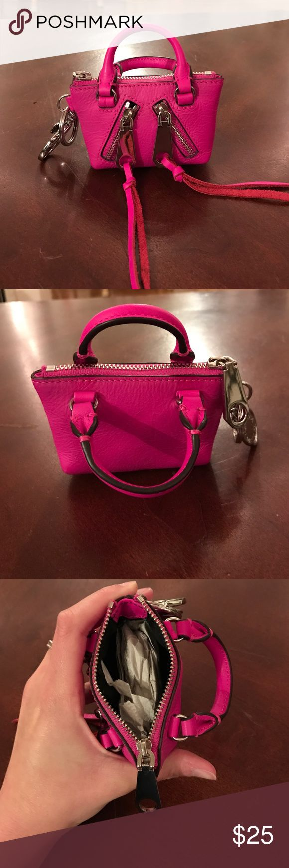 NWOT Rebecca Minkoff Mini Bag Key Chain Never used! New Rebecca Minkoff pink bag key chain!! Cutest little usable bag key chain! Also could be used as Mini change purse! No trades 🙅 make an offer!!!! Rebecca Minkoff Accessories Key & Card Holders
