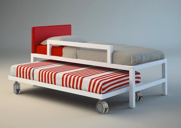 Maybe make a third one just a bit taller, add casters to the top one shown here, and we would have nesting loft beds instead of bunk beds.