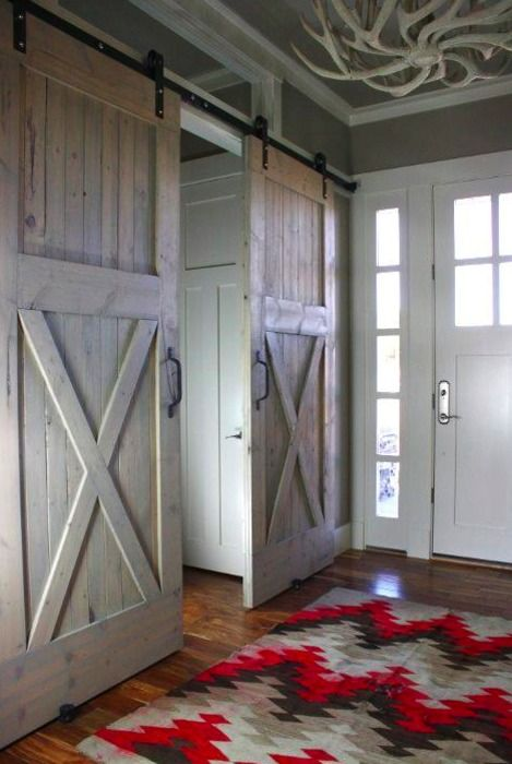 love the sliding barn doors