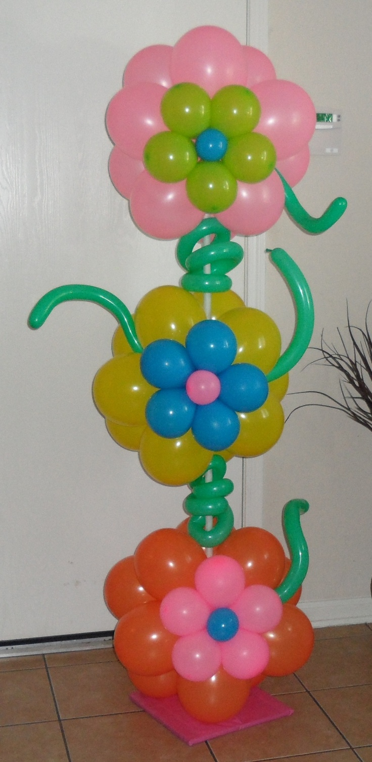 Our tower of flowers Balloon Column.