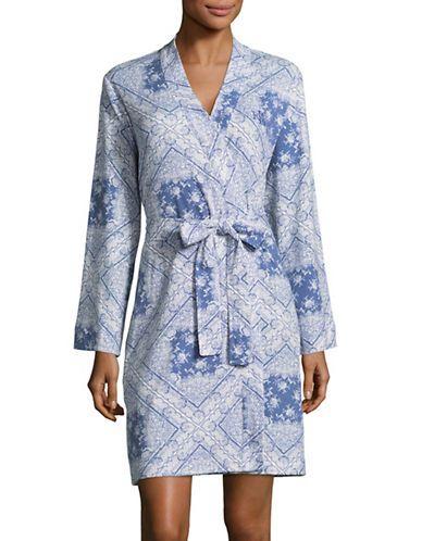 LAUREN RALPH LAURENTile Print Kimono Robe