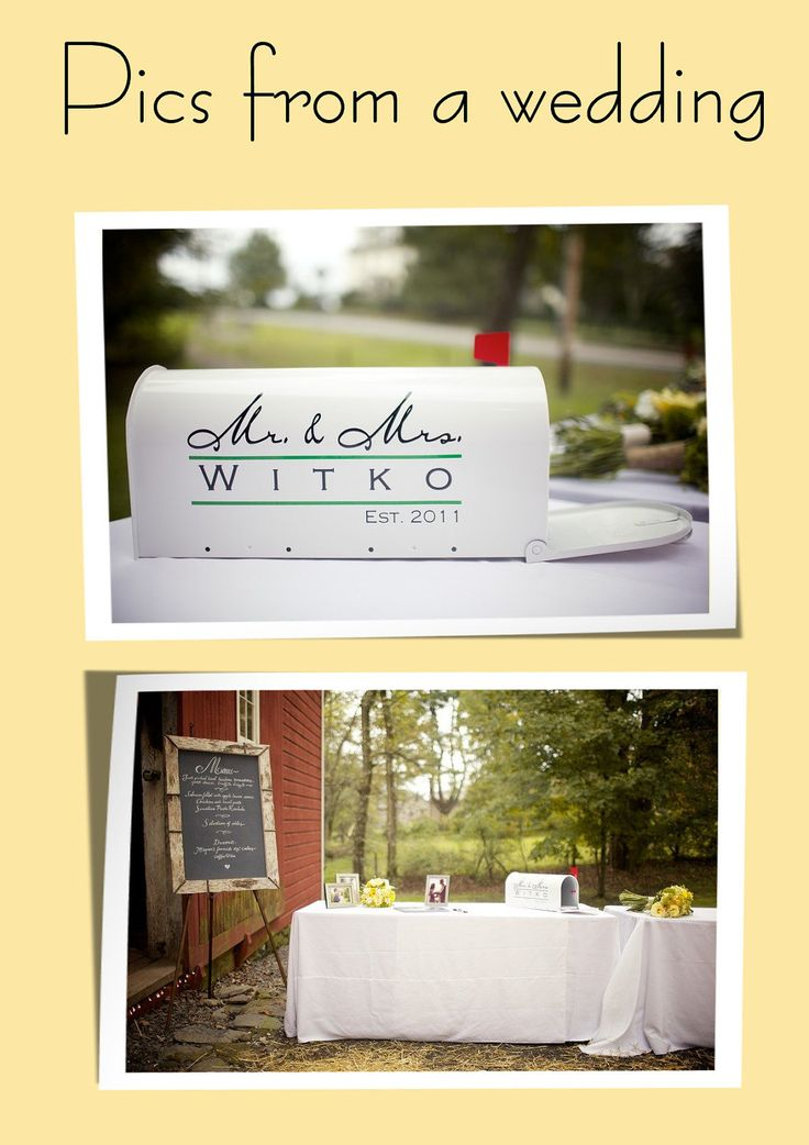 Wedding Mailbox - Card Holder - Card Boxes - Mr. & Mrs. Personalized. $49.95, via Etsy.