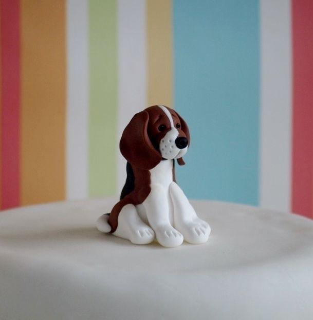 Beagle Cake Topper Beagle Cake Toppers And Fondant Tutorial