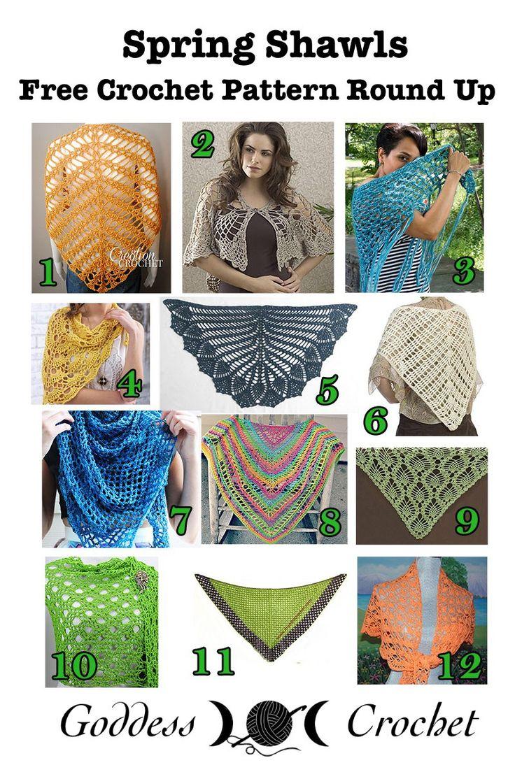 Spring Shawls – Free Crochet Pattern Round Up