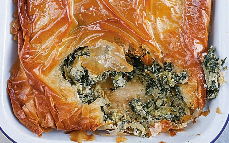 Yotam Ottolenghi and Sami Tamimi's herb pie, inspired by the food of   Jerusalem.