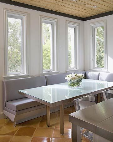 Dining Room with Banquette SeatingDining Rooms, Decor Ideas, Bench Seats, Kitchens Ideas, Kitchens Dining, Room Ideas, Paint Colors, Fresh Flower, Painting Colors