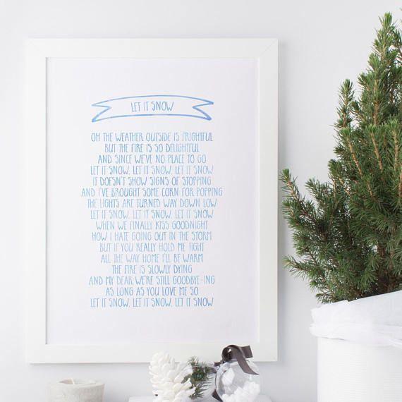 Let it snow let it snow let it snow  Lyrics  Christmas
