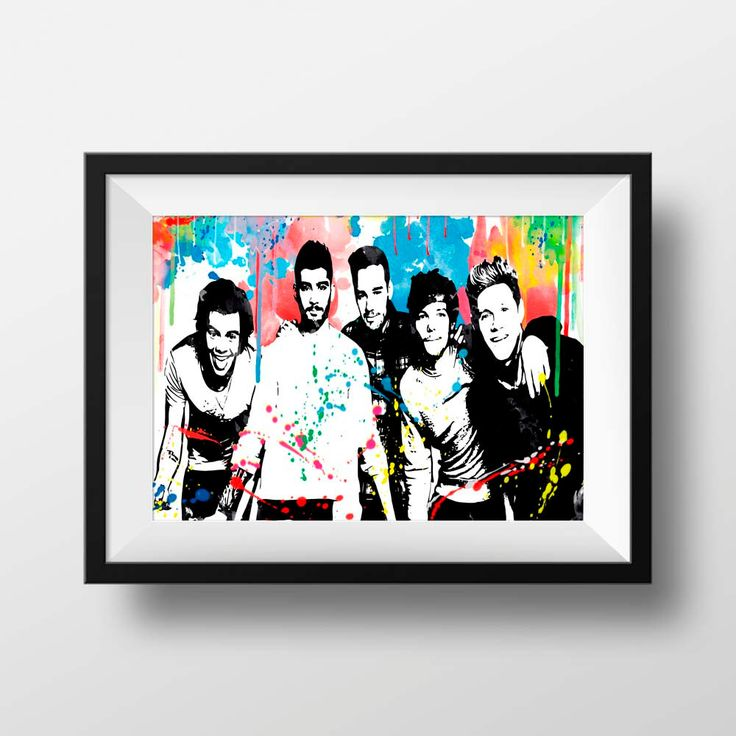 One Direction Poster Print  -  One Direction Print - One Direction Art - One Direction Watercolour - 1 Direction music wall decor