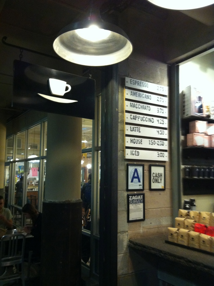 9th st espresso at Chelsea Market (they sell Intelligensia...but wrap it up in 9th st packaging....oh, New York)