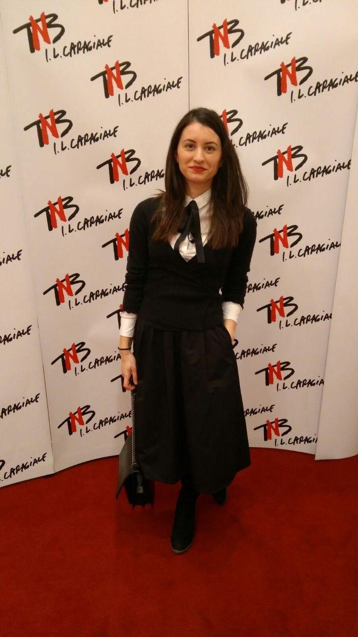 Theatre outfit, H&M shirt, Stefanel blouse, Stradivarius skirt