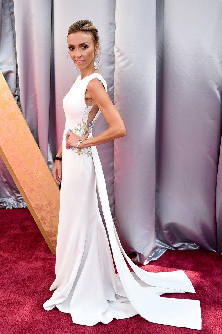 Pin for Later: Retour Sur Tous les Looks des Oscars 2016 Giuliana Rancic Portant une robe signée Georges Chakra Couture.