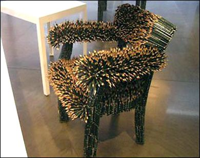 ouch? Pencil chair: Chairs You Ve, Pencil Chairs, Chairs Art, Unusual Furniture, Unusual Things, Furniture Art, Furniture Design, Pencil Art, Chairs Design