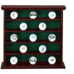 What golfers want for Christmas.  And what they don't want!  Nice gift suggestions!: Golf Ball, Display Cabinets, Collector Cabinets, Gifts Ideas, Ball Rosewood, Ball Display, Display Cases, Great Gifts, Christmas Gifts