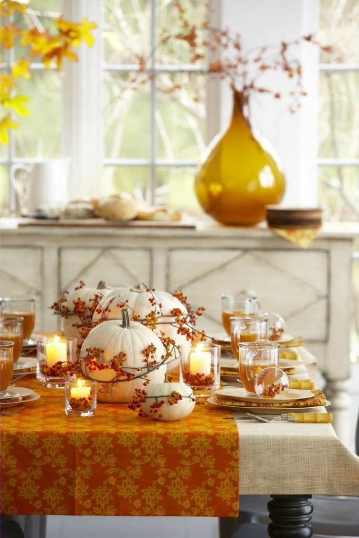 Tischdeko Herbst Gemutlichkeit Durch Kerzen Schaffen