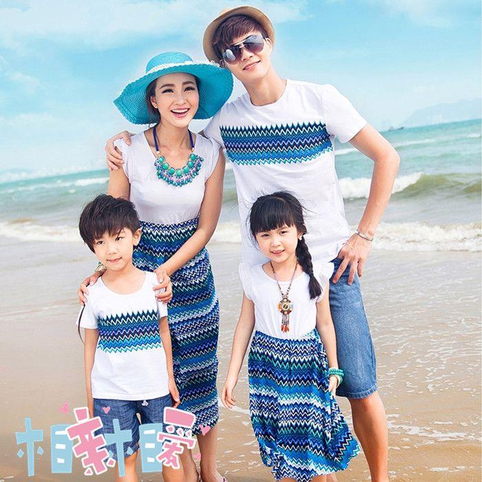 Ropa de vestir lleno de Bohemia del verano de moda de la familia de la madre y la hija de playa de tres en Conjuntos de Ropa de Moda y Complementos en AliExpress.com | Alibaba Group