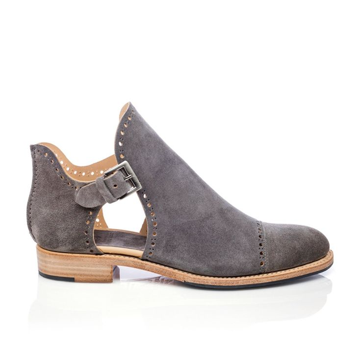 Mr. Ed Cutout Boot in Grey | The Office of Angela Scott