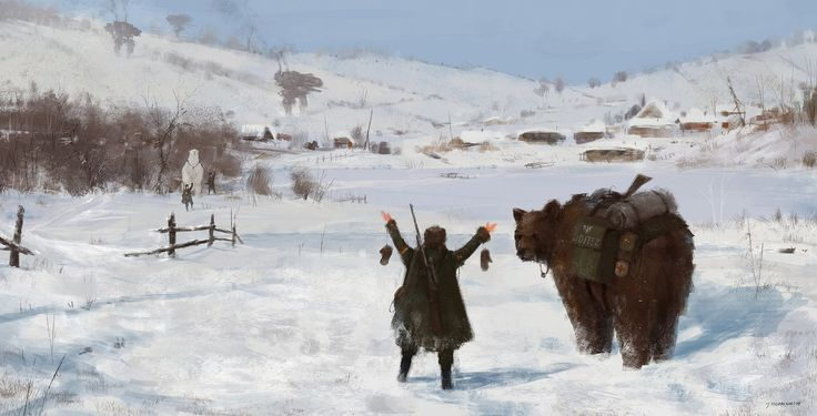 """Пост любви"" - Jakub Rozalski"