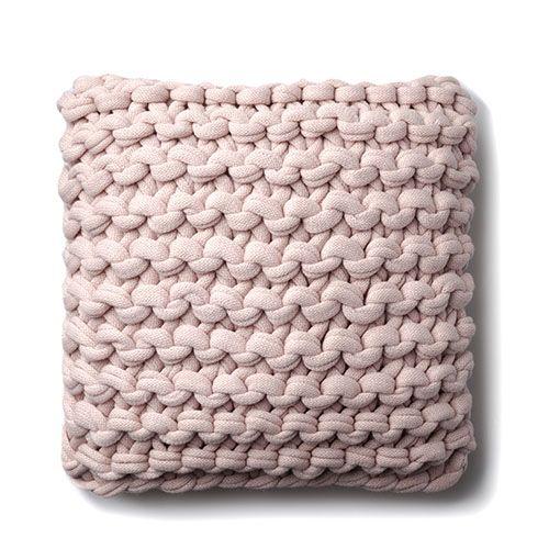 Chunky Knit Dusty Pink Cushion