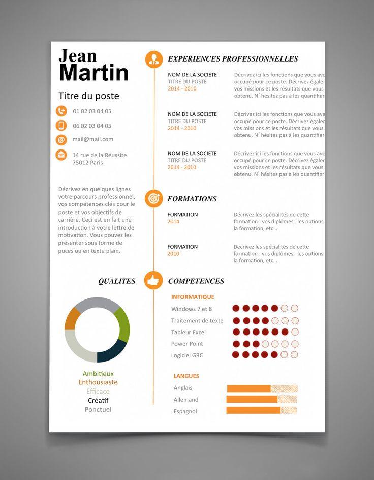37 Best CV Modernes Images On Pinterest Curriculum