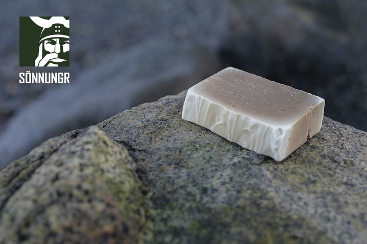 Mjoðrlaud: 100% Natural Mead Soap. Traditional nordic ingredients. All naturally extracted without the use of chemicals. Handmade with natural seed oils, animal fats, sheep wool oil, ashes, salts, mead, as well as honey. Cured in an oak cast.