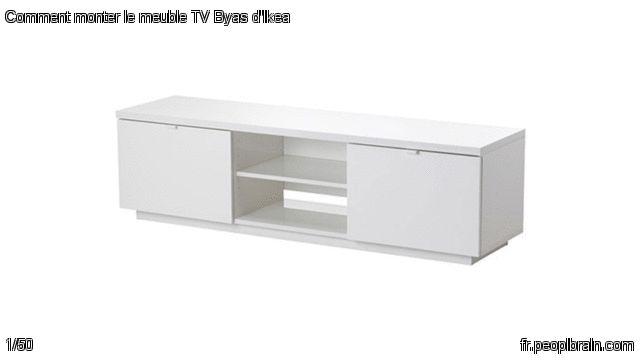 comment monter le meuble tv byas d 39 ikea pierre a transform la notice de montage du meuble tv. Black Bedroom Furniture Sets. Home Design Ideas