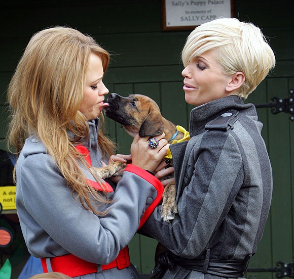 Kimberley Walsh and Sarah Harding