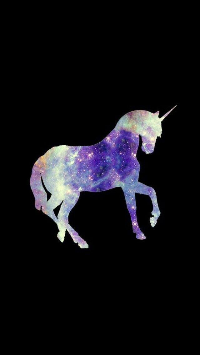 Cute Wallpapers Emoji Unicorn Galaxy Purple Black Iphone Wallpapers In 2019