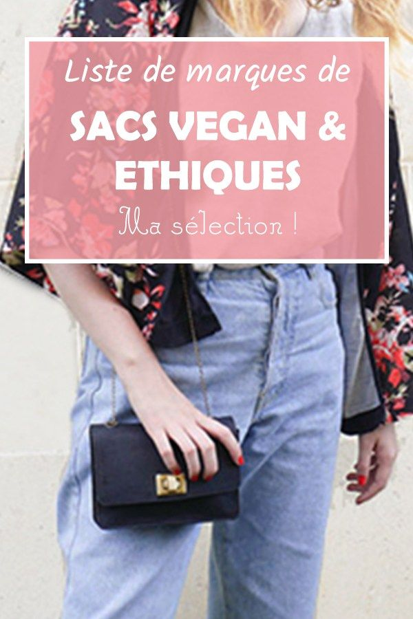 Sac De Et ÉthiqueMa Marques SélectionMode Vegan WrdxeCBo